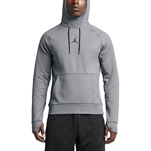 Nike Mens Jordan 360 Fleece Pull Over Hooded Sweatshirt Cool Grey/Black 808692-065 Size Large by NIKE