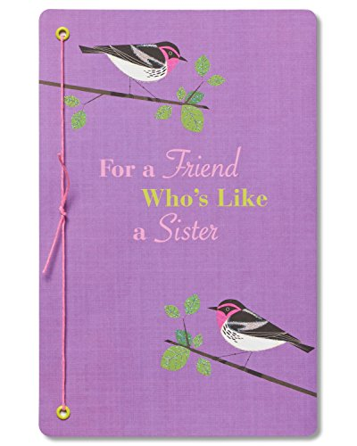 American Greetings Bird Birthday Greeting Card for a Friend Who's Like A Sister with Glitter