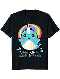 Unicorn Of The Sea Narwhal Shirt : Funny Magic Kawaii Whale
