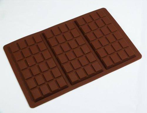 Form aus Silikon für Schokolade - 3 große Schokoladentafeln (95 g)