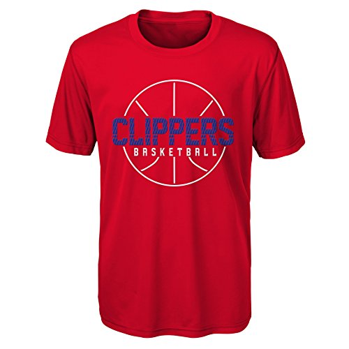 """NBA Kids & Youth Boys """"Ultra"""" Short Sleeve Tee Los Angeles Clippers-Red-L(14-16)"""