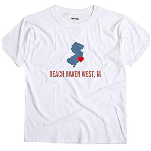 GreatCitees Beach Haven West New Jersey NJ Heart Unisex Souvenir T Shirt