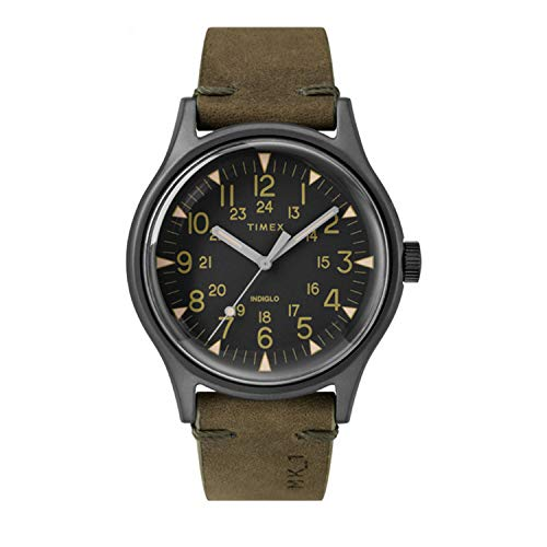 Timex MK1 40 mm Stainless Steel Gunmetal Olive Watch TW2R97000