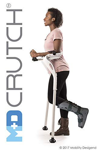 - Forearm Crutches, 1 Pair Hands-Free Crutch Cane with Ergonomic Design - Two Walking Support Crutches, Adult Fit (4'11