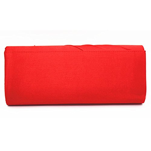 YYW Evening Bag - Cartera de mano para mujer Red
