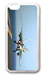 MOKSHOP Adorable jet aircraft carrier takeoff Soft Case Protective Shell Cell Phone Cover For Apple Iphone 6 (4.7 Inch) - TPU Transparent by Maris's Diary