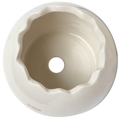Decorative Egg Shell Shaped Small White Ceramic Plant