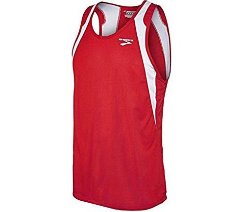 (Brooks Athletic Sprinters Sleeveless Top - True Red/White -)