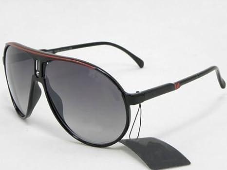 Neuf Lunettes de soleil style carrera Noir Mat Categorie 3 UV400 avec pochette et chiffonnette … L9VJVS