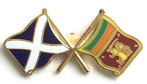 Écosse & Sri Lanka Drapeaux d'amitié avec Pin's (épinglette Badge en émail