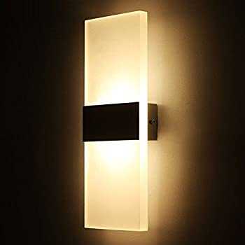 modern sconces lighting. Outreo Modern Acrylic 6W LED Wall Sconces Light Lamp Decorative Fixture For Bedroom, Living Lighting