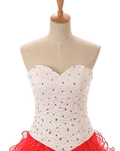 Rüschen Elegant Damen Festkleider Gelb Quinceanerakleid LuckyShe Organza Lang Prinzessin Abendkleider Ballkleid 5qRwxXUw