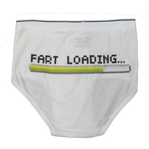 FART LOADING Whitey Tighty Novelty Underwear / Funny Gag Briefs