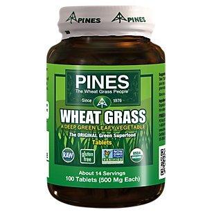 Pines International - Wheat Grass, 500 mg, 100 - Wheatgrass Tablets Pines