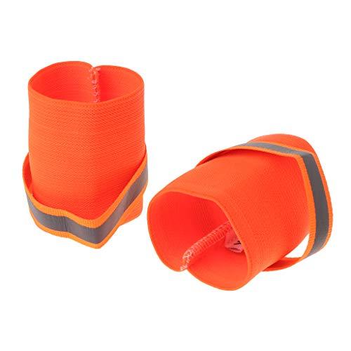 Leg Safety Reflective Bands - Tebatu Pet Wrist Band, Reflective Strap Safety Dog Puppy Leg Wrap Elastic Outdoor Fluorescent Orange 6x7cm