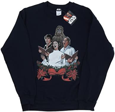 Star Wars Herren Christmas Carols Sweatshirt Medium Marine