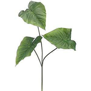 "Tropical Anthurium Fake Leaves in Green - 28"" Tall 44"