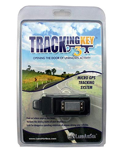 LandAirSea Tracking Key 3 - Passive GPS Tracker with No Monthly Fees, Magnetic and Discreet, Location Recording, Detailed Route History (Small Gps Tracking Device No Monthly Fee)