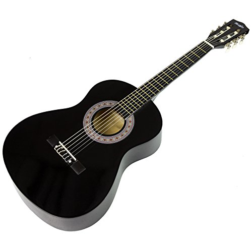 Music Alley MA-34-BK Acoustic Beginner Guitar Pack, Black