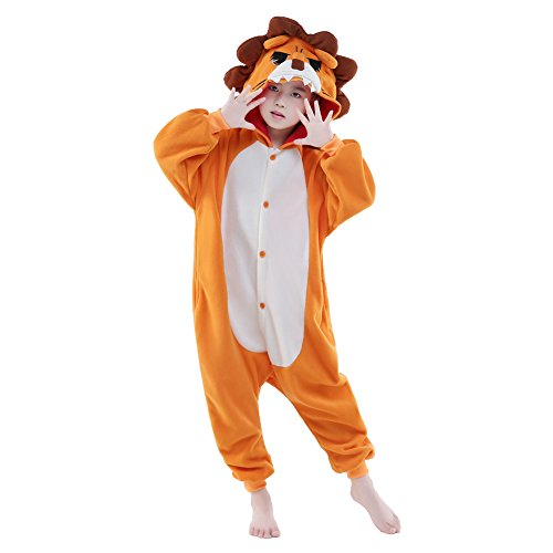 NEWCOSPLAY Unisex Children Animal Pajamas Halloween Costume (115#, -