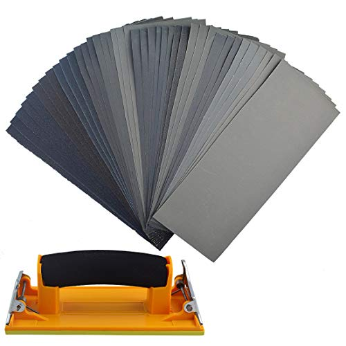 Sandpaper assortment, sanding block