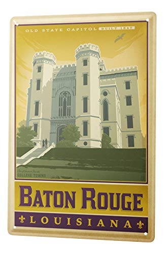 Travel Tin Sign Kitchen Decoration Baton Rouge Louisiana