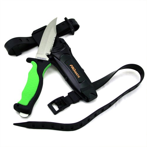 Promate Sharp Tip Titanium Dive Knife, Green, KF593
