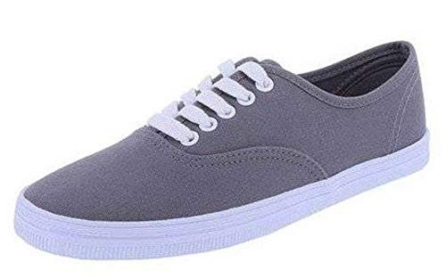 American Eagle AE Womens Bal Canvas Sneakers Shoes (5.5 M, Gray)