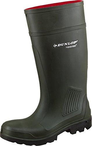 Dunlop - Calzado de protección de Caucho para hombre Verde oliva