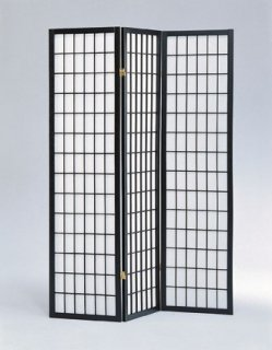 Square Design Room Divider 3 Panel Black 3 Panel Black Room Divider