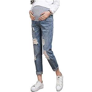 Dove acquistare Primavera Autunno Jeans Strappati Donna Pantaloni Premaman Regolabili Denim Blu Gravidanza Estensione Leggings maternità…