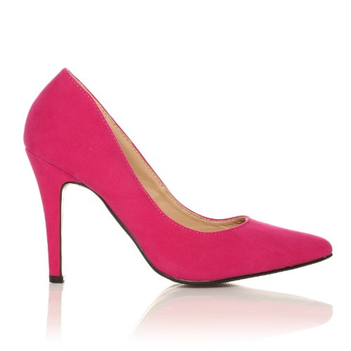 DARCY - Chaussures à talons hauts - Stiletto - Bout pointu - Fuchsia- Effet daim