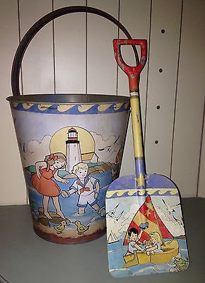 Vintage Sand Pail and Shovel Set – Vintage Beach