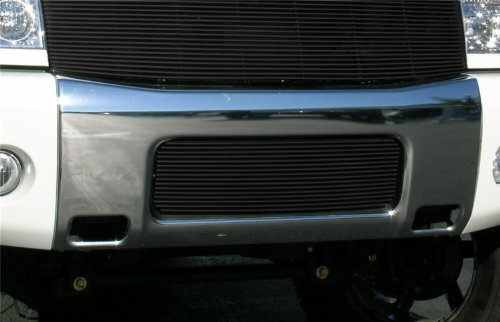 - T-Rex Grilles 25780B Horizontal Aluminum Black Finish Billet Bumper Grille Bolt-on for Nissan Titan Armada