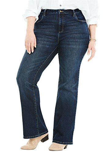 Women's Plus Size Tall Perfect Bootcut Jean by Woman Within