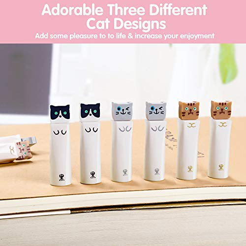 Cat Pens, 12 Pcs Cute Pens Japanese Kawaii Cat Gel Pen w/Pink Pen Case, 0.38mm Black Ink Pens for Stationary School Office Supplies, Ideal Cat Lover Gifts for Women Photo #4