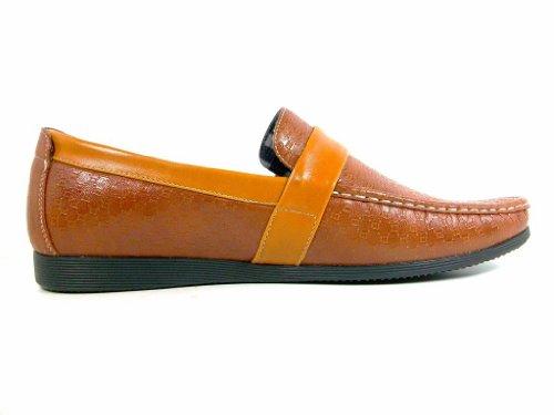 Zapatillas De Deporte Mocasines Casuales Marrón 3034 Para Hombre En Los Zapatos Del Holgazán