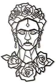 Hoagard Frida Kahlo Metal Wall Art 45cm x 65cm