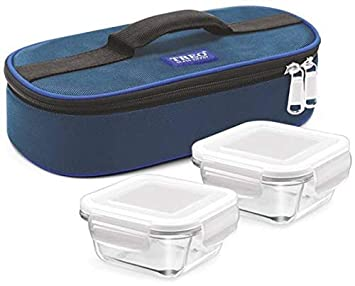 MILTON Treo Health First Square 2 Containers Lunch Box  Blue