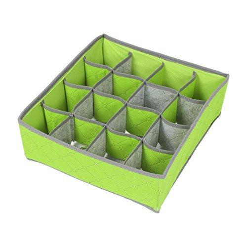 eDealMax de carbn de bamb 16 compartimentos Sujetador ropa Interior Calcetines Lazos de almacenamiento caja de la caja Verde
