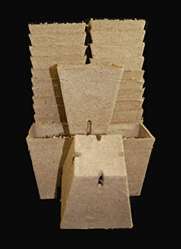 Jiffy Peat Pots 3.5 Inch Deep Square Seed Starting Biodegradable #240 - 800 ea Full Case By Growers Solution by Jiffy