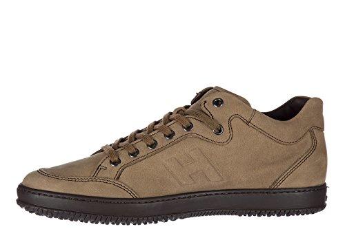 Hogan zapatos zapatillas de deporte hombres en piel nuevo marrón