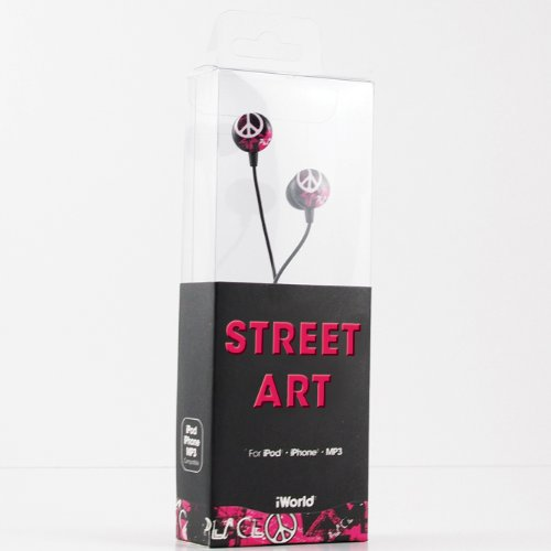 iWorld Street Art Ear Buds - Compatible With Apple IPod/IPhone and MP3 Player