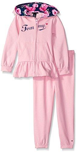 tommy-hilfiger-little-girls-toddler-fleece-hooded-jacket-and-jog-pant-set-pink-4t