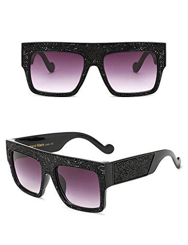 estrellas Gray tamaño Dim de de Gray Black gran Aprigy hombre Dim unisex sol para con Gafas de diseño Clear 0xRqCWU