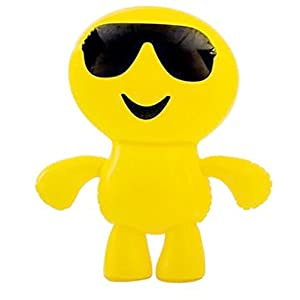 "24"" Inflatable Cool Guy In Sunglasses Emoji Emote Face Man Decoration"