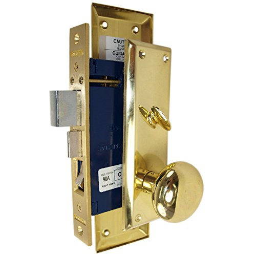 Marks Hardware 91A-LH Marks Mortise Lock, Left Hand, 4.2'' x 10.9'' x 4.5''