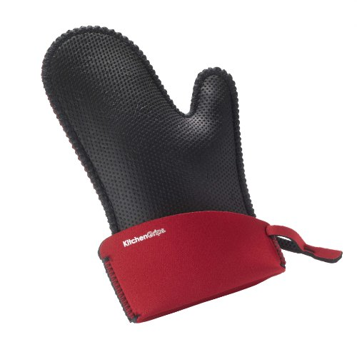 Oven Chef Mitt (Kitchen Grips Chef's Mitt, Large, Black/Cherry)