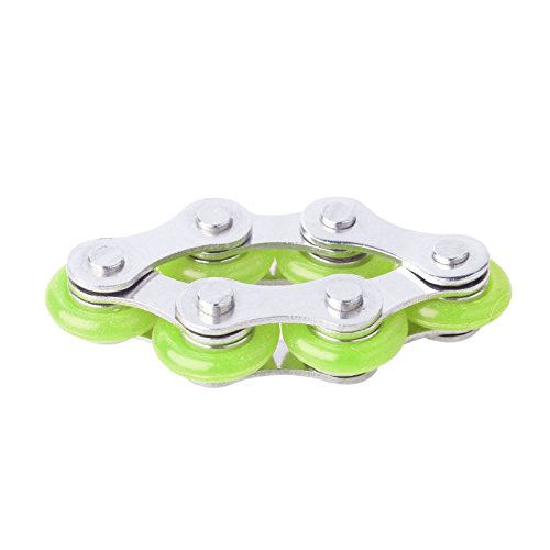 DINGJIN 1 Pcs Roller Chain Fidget Toy Stress Reducer for Kids/Adults Bike Chain Fidget Toys Perfect For ADD,ADHD,Anxiety,and Autism,Color Green