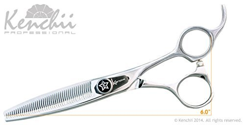 (Kenchii Grooming - Five Star Offset 46 Tooth Thinning Shear - KEFSO46 6